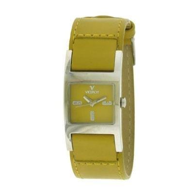 Viceroy 43520-65 – Reloj con correa de piel para mujer, color amarillo / gris