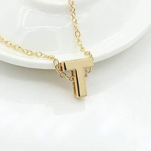 BEARCOLO DIY Gold A-Z Buchstabe Anhänger Halskette Charm Frauen Schlüsselbein Minimalistischen Choker Schmuck für Frauen Geschenk