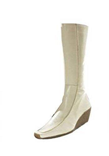 Stiefel von Apart aus Glattleder in Ecru Ecru