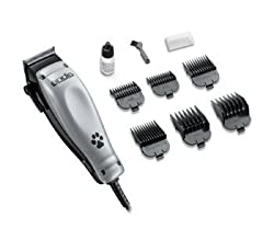 Andis Easy Clip 10 Piece Pet Clippers Set, With Powerful Quiet And Cool Running Motor, Features A Adjustable Blade, And 6 Comb Guide Attachments, Protactive Blade Guard, Lubricating Blade Oil, And Blade Brush Included