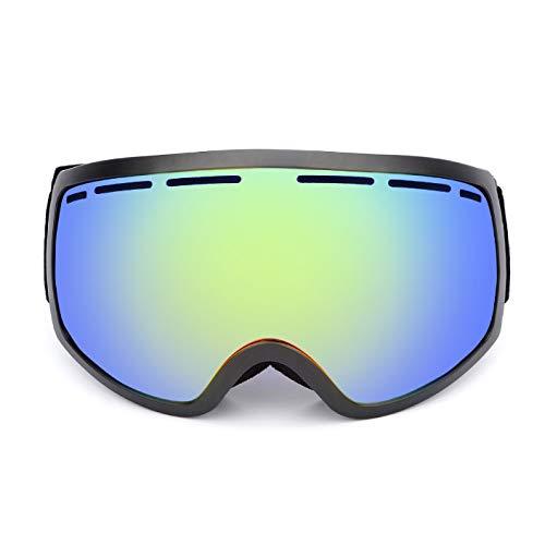 Gyqjs Skibrille Unisex Doppelt Beschichtete Linse HD Vision Isolation Blendung Strahlung Anti-Fog Schnee Anti-Sand Sonnenbrille Motorrad Schneemobil,C