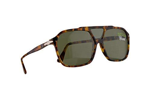 Persol 3223-S Sonnenbrille Madre Terra Mit Polarisierten Grünen Gläsern 59mm 1052P1 PO 3223S PO3223S PO3223-S