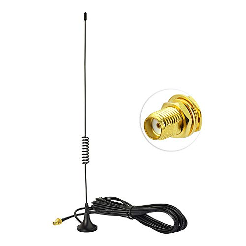 Bingfu Dual Band VHF UHF Ham Mobile Radio Aerial, SMA Female Magnetic Base  Antenna with 2M RG174 Extension Cable for Kenwood BaoFeng HYT PUXING TYT