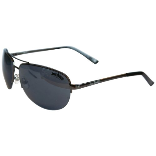 Jack Daniel's Sunglasses shiny gun/black tips/smoke Bioworld