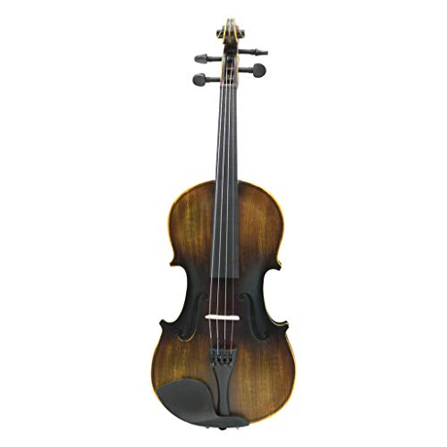 Almencla 1 PC Voller Größe 4/4 Massivholz Violine Mit Saiten, Schulterstütze, Bogen Und Fall, Satin Antik Finish -
