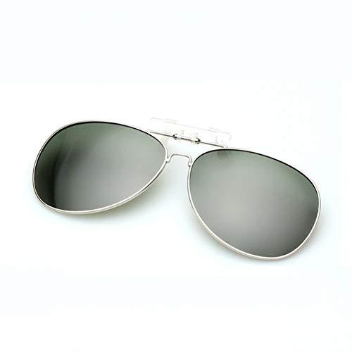 Kjwsbb Clip auf polarisierte Sonnenbrille männer Frauen Pilot Sonnenbrille Clip myopie Brillen Nacht Fahren Brille