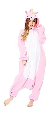Noir Halloween Costumes Pour Les Couples - Minetom Femme Homme Unisexe Licorne Kigurumi Pyjamas