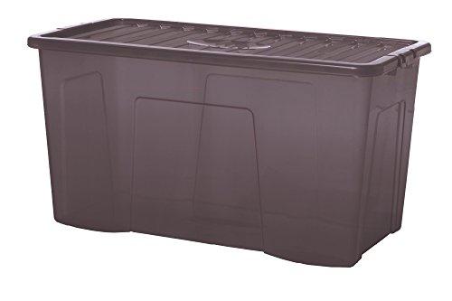 Wham Aufbewahrungsbox mit Deckel 80 l rauchgrau Box Stapelbox Kunststoffbox