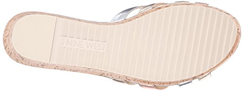 Nine West Caserta Metallic Platform Sandal Light Gold/Multi
