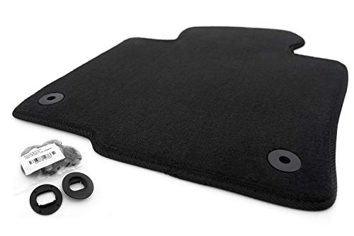 kh Teile Fußmatte Passat 3C Velours Automatte Original Qualität 1-teilig Fahrermatte schwarz