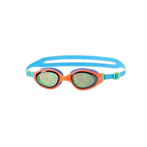 Speedo Erwachsene Holowonder Schwimmbrille Smoke/Siren/Japan Blue, One Size