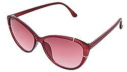 SHVAS UV Protection Cat Eye Womens Sunglasses [CATCALLRED]