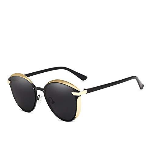 RZRCJ Katzenauge Sonnenbrille Frauen Polarisierte Mode Damen Sonnenbrille Weibliche Vintage Shades UV400 (Lenses Color : C01 Gold Gray)