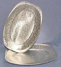 100klein (33cm) Oval Folie Platten Platte Oval Tray