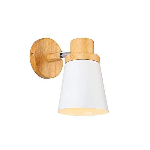 Moderna Creativo de Madera Apliques de Pared, Lámpara de Decoración Vintage Lámpara de pared de Montaje...