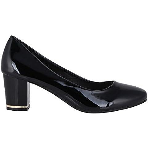 Mujer Zapatos Tacón Fiesta Invierno Cómodos Charol de Vestir Moda Nuevo