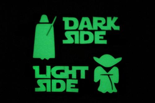 'nuovo. vivaci star wars dark side light side interruttore luce adesivo fluorescente si illumina