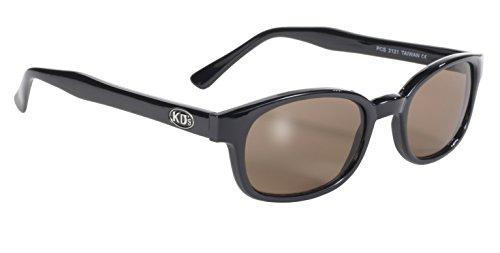 echte Sonnenbrillen KD's dark brown 2121 - bikers