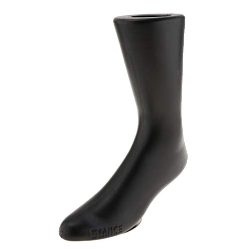 Preisvergleich Produktbild perfk Fuß Schaufensterpuppe Modell Schuhspanner Ankleidepuppe Socke Söckchen Fußring Fußspange Display Fußmodell Männer -Schwarz