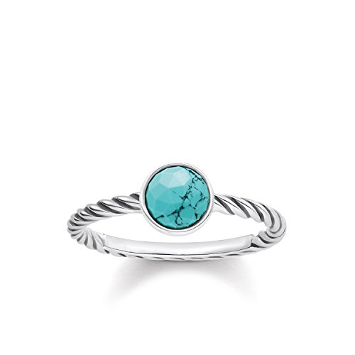 THOMAS SABO Damen Ring Ethno 925er Sterlingsilber, Geschwärzt TR2130-878-17