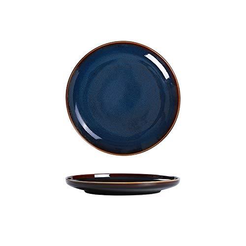 M-Y-S Bol en céramique, assiette creuse assiette creuse créative de vaisselle de ménage rétro japonais, grand bol (taille : B)