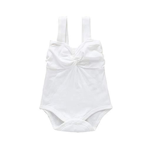 Alwayswin Baby Unisex Strampler mit Aufdruck Neugeborene Säuglingsbaby Bekleidung Overall Baby Jungen Mädchen Cartoon Spielanzug Sommer ärmellos Body Bodysuit Baumwolle