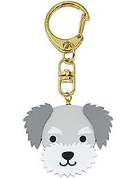55f8795fe Haodou Animales Encantadores Perros Metal Llaveros para Coche Bolso  Schnauzer Chihuahua Mascotas Accesorios Decoración Regalo