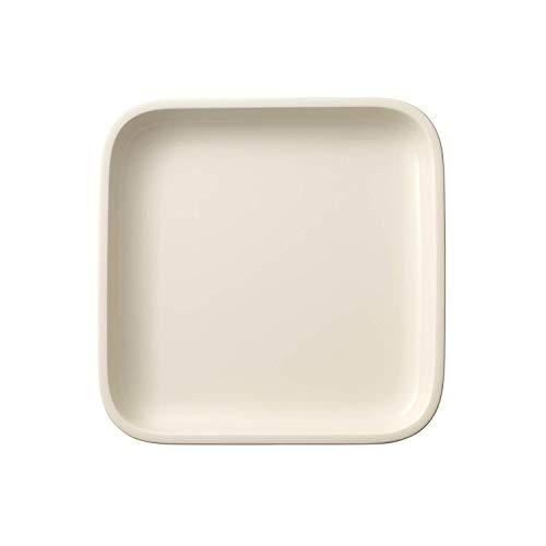 Villeroy & Boch Clever Cooking Plat de service carré, 22 x 22 cm, Porcelaine Premium, Blanc