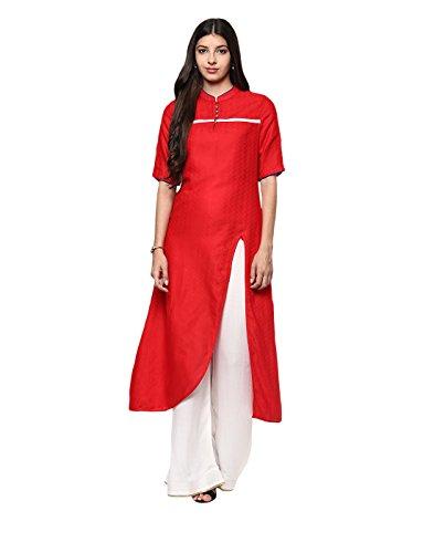 Yepme Women's Red Cotton Kurtis - YPWKURT2192_S