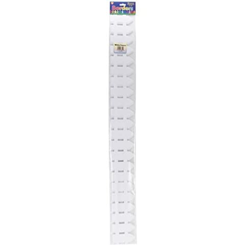 Hygloss Classroom Die Cut Fence Borders, 3 x 36-Inch, White, 12-Pack by Hygloss