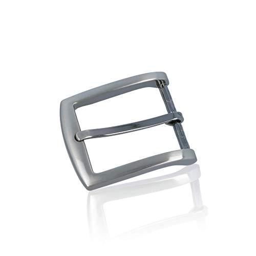 FREDERIC HERMANO Gürtelschnalle Buckle 35mm Metall Silber - Buckle Facile - Dornschliesse Für Gürtel Mit 3,5Cm Breite - Silberfarben (Männer Für Gürtel Silber)