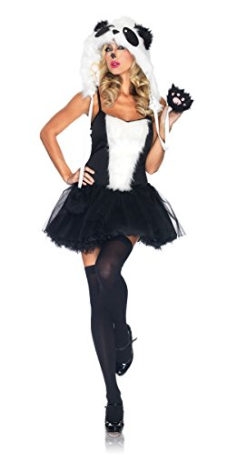 Neue Damen Panda Tier Cosplay Fancy Dress Hen Night Halloween Party Größe UK 10–12 EU (Uk Theater Kostüme)