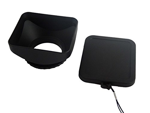 vhbw Kunststoff Gegenlichtblende Streulichtblende Sonnenblende 52mm schwarz für Kamera Camcorder Panasonic, Samsung, Sony -