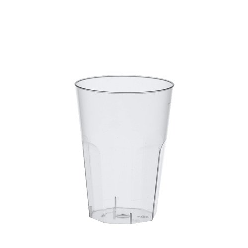 Papstar 16507 30 Gläser für Latte Macchiato / Caipirinha, Polystyrol 0.3 L, Ø 8 x 11 cm, glasklar