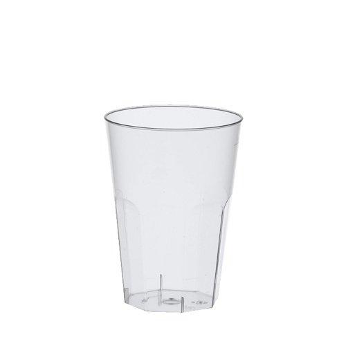 einweg cocktailglaeser Papstar Gläser / Becher für Latte Macchiato bzw. Caipirinha, aus Polystyrol, 0.3 l, (30 Stück) Ø 8 x 11 cm, glasklar, ideal für Cocktails, hitzebeständig bis 85°C, mit Füllstrich, extra stabil #16507