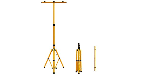 IP65 20w LED Twin Floodlight Tripod Stand for Job Site Lighting 2 Mount Retractable Frame TRI021702
