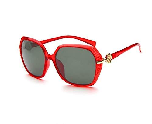 Easy Go Shopping Metall Rose Dekoration Sonnenbrillen (Lens Colour&Frame Colour : Red Wine+Red)