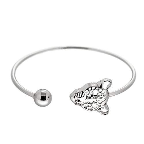 Sweet Deluxe Armreif Cheetah, Silber I Armschmuck für Damen & Mädchen | Girl Armband/Armspange | Geschenk-Idee für Geburtstag, Hochzeit, Verlobung | Bangle Frauen Armkettchen (Kinder Kleidung Cheetah Für)