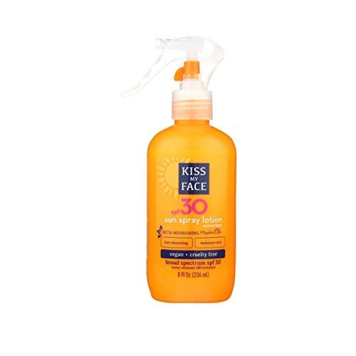 Kiss My Face Sunspray Lotion Spf#30 Uva/Uvb Protection 236 ml (Sonnencreme) (Outdoor-tanning Lotion)