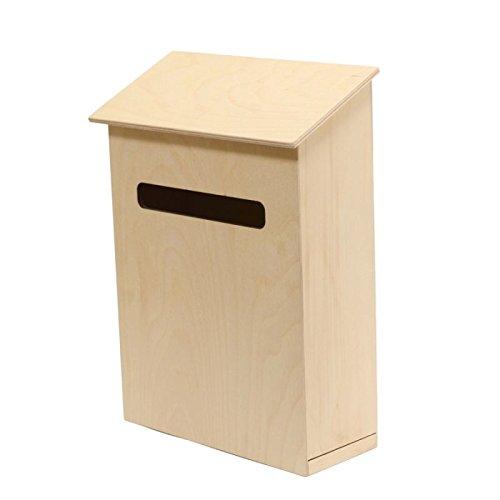IDEA HOBBY- Flight of Ideas Wandbriefkästen- Briefkasten aus Holz für Postkarten, Zeitungen, Broschüren- Garten Briefkasten- Garten Deko-35x29x11cm