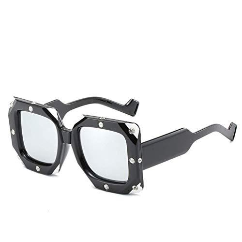 WYJW Designer Square Übergroße Diamond Crystal Sparkling Composite Dickrahmen Sonnenbrille Uv400 Schutzbrille Marke