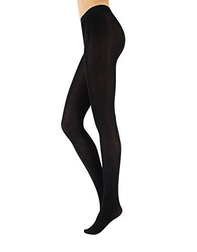 Calzitaly collant opaco lana donna | calzamaglia cashmere | calze coprente | 150den | nero, blu | s m l xl (xl, nero)