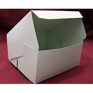 10 White Fairy Cupcake Muffin cake Boxes 6 x 6 x 3