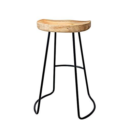 Barhocker Küche Esszimmerstühle Bar/Pub Hocker Minimalistische Barhocker Cafe Stühle Gemütlich Handwerk Fußstütze Große Sitze Runden Maximale Last 150kg - Metall Runde Pub Tabelle