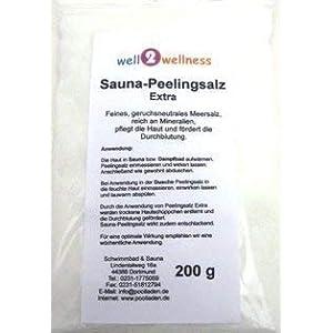 Sauna Peelingsalz Extra im 200 g Beutel – 100% naturrein aus dem Toten Meer
