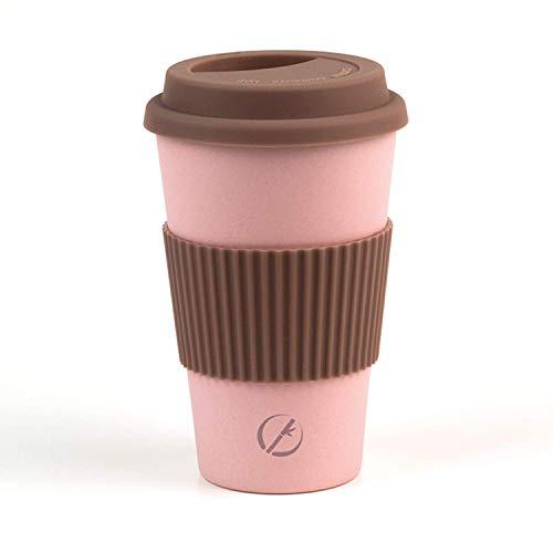 Planet Bamboo ♻ Taza de café para llevar, travel mug de fibra de bambú (400 ml | Maracuyá) Coffee2Go vaso sostenible