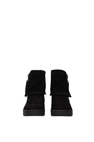 3T5867NERO Prada Chaussure mi montantes Femme Chamois Noir Noir