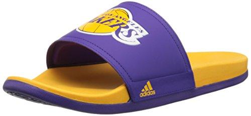 Adidas Performance Adilette La Lakers Sandals, regal Violet / or / royal Violet, 6 M nous Regal Purple/Gold/Regal Purple