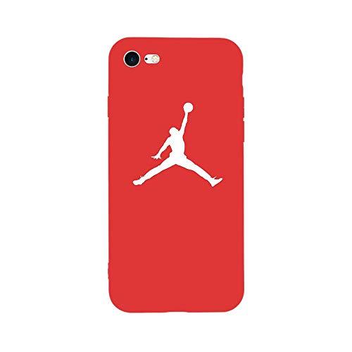 1 Stück New Fashion Sport Fun Jordan Air Jump Man Weiche TPU Silikon Schutzhülle für iPhone 6 6S Plus 8 8 Plus 7 7 7 Plus X 5 5S SE Handyhülle for 7Plus or 8Plus TPU JORDN RED Jordan Fashions