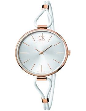 CK Damen-Armbanduhr Analog Quarz Leder K3V236L6